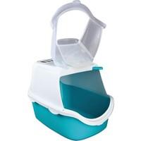 Trixie Filtreli Kedi Kapalı Tuvalet, 40×40×56cm, akuamarin/beyaz
