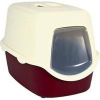 Trixie kedi kapalı tuvaleti,bordo/krem 40x40x56cm