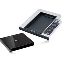 "Akasa N.Stor Notebook Slim SATA Optik Sürücü (ODD) Yuvasıyla Uyumlu 2.5"" SATA HDD ve ODD Kutusu Bundle Kit (AK-OA2SSA-KIT)"