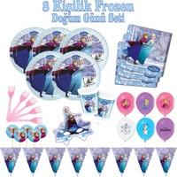 Frozen 8 Kişilik Doğum Günü Seti