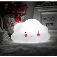 Momz Bebek Çocuk Odası Beyaz Gülümseyen Bulut Led Gece Lambası
