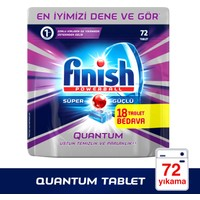Finish Powerball Quantum Bulaşık Makinesi Deterjanı 72 Tablet