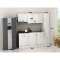Kenyap 825270 Eco Mini Mutfak 200 Cm Beyaz