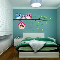 BigWall Baykuşlar Ve Dallar Duvar Stickerı Wall Sticker Owl