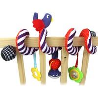Momz Sevimli Spiral Puset Bebek Arabası Beşik Aktivite Oyuncağı Peluş Oyuncak