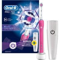Oral-B Pro 750 Şarj Edilebilir Diş Fırçası Cross Action Pembe (Seyahat Kabı Hediyeli!)