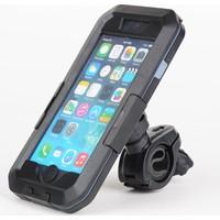 Case 4U Apple iPhone 6 Plus/6S Plus/7 Plus/ 8 Plus Su Geçirmez Bisiklet Telefon Tutucu