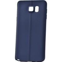 Case 4U Samsung Galaxy Note 5 Parlak Desenli Silikon Kılıf Lacivert