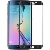 Case 4U Samsung Galaxy S7 Edge 3D Kavisli Kırılmaz Cam Ekran Koruyucu Siyah