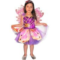 Winx Stella Çocuk Peri Kostümü 4-6 Yaş