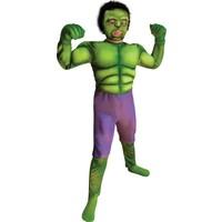 Marvel Hulk Çocuk Dev Adam Kostümü Lüks 4-6 Yaş