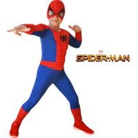 Spiderman Kaslı Çocuk Kostümü Örümcek Adam Kıyafeti Lüks 4-6 Yaş