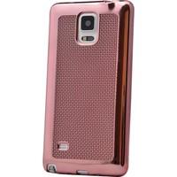 Case 4U Samsung Galaxy Note 3 Hasır Desenli Ultra İnce Silikon Kılıf Rose Gold