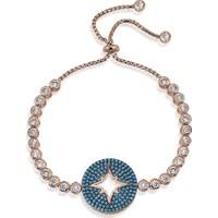 Lio Jewels 925 Ayar Altın Kaplama Gümüş Kutup Yıldızı Firuze Taşlı Bileklik