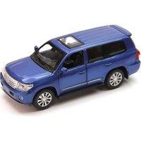 Vardem Sesli ve Işıklı 1:32 Toyota land Cruiser Çek Bırak Araba (Mavi)