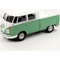 Motor Max 1:24 Volkswagen Type 2 (T1) Double Car Pickup (Yeşil)