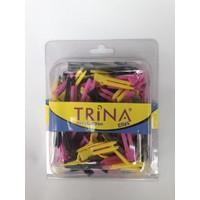 Trina Saç Pensi 100 Lü Renkli Plastik 0024