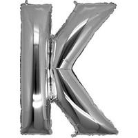 KullanAtMarket K Harf Gümüş Folyo Balon 40cm