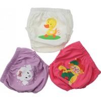Modakids Kız Bebek Sevimli 3'lü Alıştırma Külodu 035 - 60155 - 003
