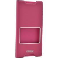 Case 4U Sony Xperia C5 Ultra Pencereli Kapaklı Kılıf Pembe