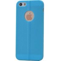 Case 4U Apple İphone 5 Desenli Silikon Kılıf Mavi