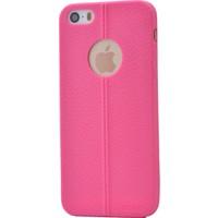 Case 4U Apple İphone 5S Desenli Silikon Kılıf Pembe
