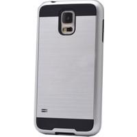 Case 4U Samsung Galaxy S4 Korumalı Kapak Gümüş
