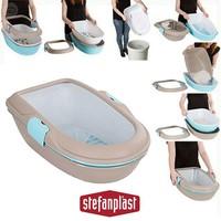 Stefanplast Furba Elekli Açık Kedi Tuvalet Kabı Granit Gri 39X59X22H Cm