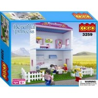 Cogo Lego Prenses Seti Prensesin İki Katlı Evi 360 Parça