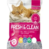 Fresh & Clean Silika Kristal Kedi Kumu 3.4 Lt 1,4 Kg