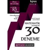 Pegem 2018 Kpss Genel Yetenek Genel Kültür Matematik - Geometri 30 Deneme