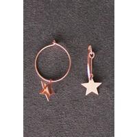 Bella Gloria Sallantılı Yıldız Rose Gümüş Küpe (Tgp0107)