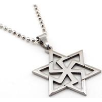 Solfera Altı Köşeli Davut Yıldızı Çelik Erkek Kolye K818