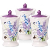 Biev Lavender 13X19 Cm 3 Parça Kavanoz Seti Fvc902