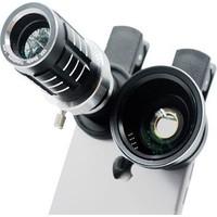 Markacase 12X Sabit Zoom Ve 0.45X Wide Angel,Macro Kamera Lens Seti 3İn1