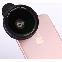 Markacase 0.6X Wide Angel Ve Macro Telefon Kamera Lensi Multi-Coated Güneş Engelleyici Kaplama