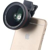 Markacase 0.5X Super Wide Angel Ve Macro Telefon Kamera Lensi Profesyonel Geniş Açı Lens