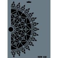 Rich Yeni Seri Xl Stencil 35X25Cm N-158