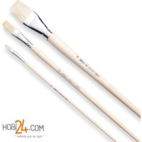 Pebeo 258F Seri Doğal Beyaz Kıl Kesik Uç Yağlı Ve Akrilik Boya Fırçası - N:18