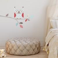 DekorLoft Renkli Baykuş Çocuk Odası Duvar Sticker CS-296
