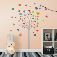 DekorLoft Mutlu Ağaç Çocuk Odası Duvar Sticker CS-308