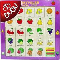 Bubu Ahşap Puzzle Meyveler Hafıza Oyunu 30X30 Bj-53Ap0063