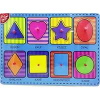 Bubu Ahşap Puzzle Şekiller Bj-53Ap0058