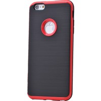 Case 4U Apple İphone 6S Korumalı Arka Kapak Kırmızı