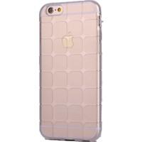Case 4U Apple İphone 6 Plus Kare Desenli Silikon Kılıf Şeffaf