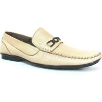 Berfo 4535 Bej Krem Bağcıksız Erkek Ayakkabı