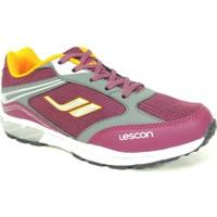 Lescon Fuşya Pembe Sarı Bağcıklı Çocuk Spor Ayakkabı