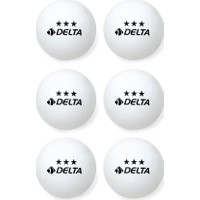Delta 3 Yıldız Masa Tenisi (ping Pong) Topu - 6 Adet