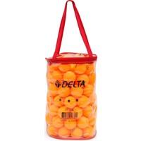 Delta 100 adet 3 Yıldız Masa Tenisi Topu (Pinpon Topu) (Fermuarlı Taşıma Çantalı)
