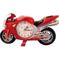 Falkon Hardymix Dekoratif Motorsiklet Masa Saati Kırmızı